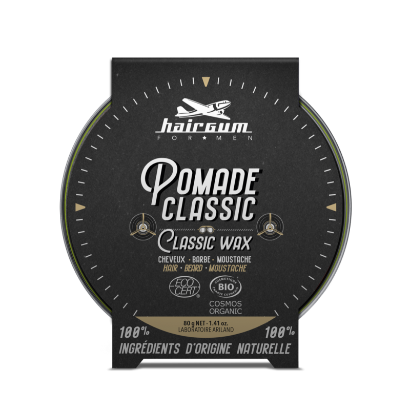 POMADE CLASSIC CHEVEUX BARBE MOUSTACHE - HAIRGUM FOR MEN