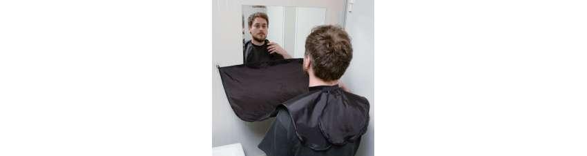 Cape de coupe Barber avec ventouses
