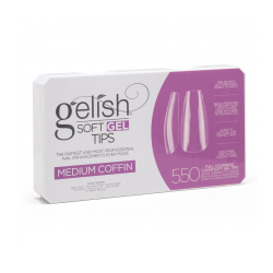 SOFT GEL TIPS MEDIUM COFFIN X550 - GELISH