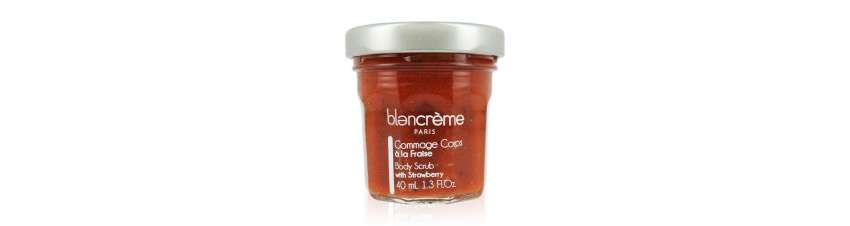 Duo soins corps Fraise & Grenade - Gommage + Crème corps - Blancrème