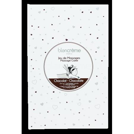 COFFRET JEU DE MASSAGE CHOCOLAT - Blancrème