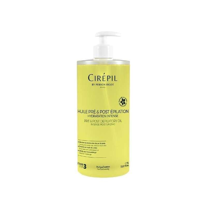 CIREPIL - Huile pré et post épilation - Parfumée au jasmin - 1L