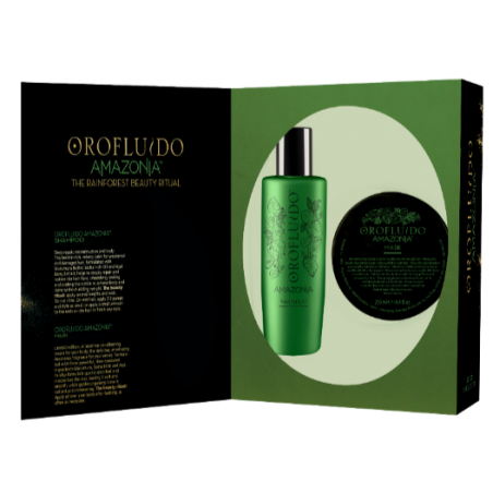 Coffret Noël AMAZONIA Orofluido REVLON - Shamp 200ml + Masque 250ml