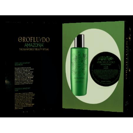 Coffret Noël  AMAZONIA Orofluido REVLON - Shamp 200ml + Masque 250ml