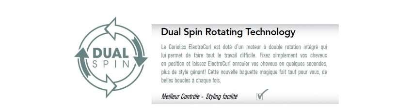 Corioliss ElectroCurl : Dual Spin Rotating Technology - Meilleur Contrôle - Styling facilité