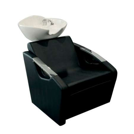 BAC A SHAMPOING SKYWASH FASHION COMFORT MALETTI ( accoudoirs aluminium), repose-jambes électrique