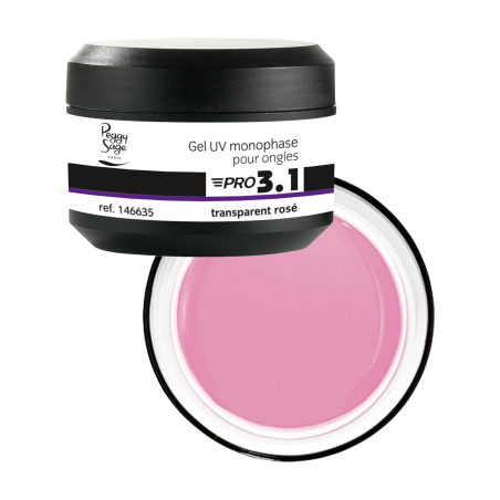 PRO 3.1 GEL DE CONSTRUCTION TRANSPARENT ROSE 15G