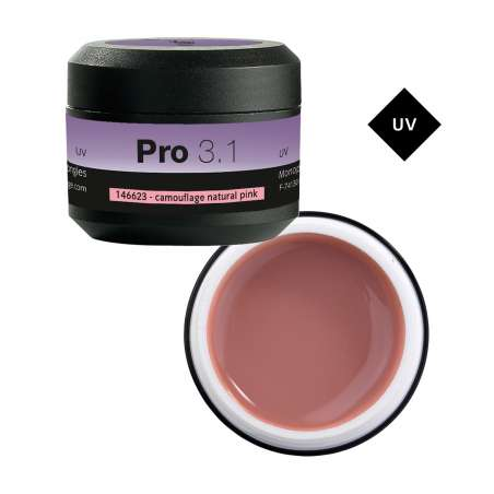 PRO 3.1 GEL DE CONSTRUCTION CAMOUFLAGE NATURAL PINK 15G