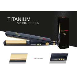 GK Hair Flat Iron Plaque à lisser Titanium
