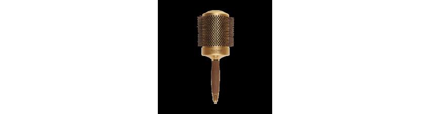 Brosse Thermique 82mm - CERAMIQ + ION NANOTHERMIC DORÉ - OLIVIA GARDEN