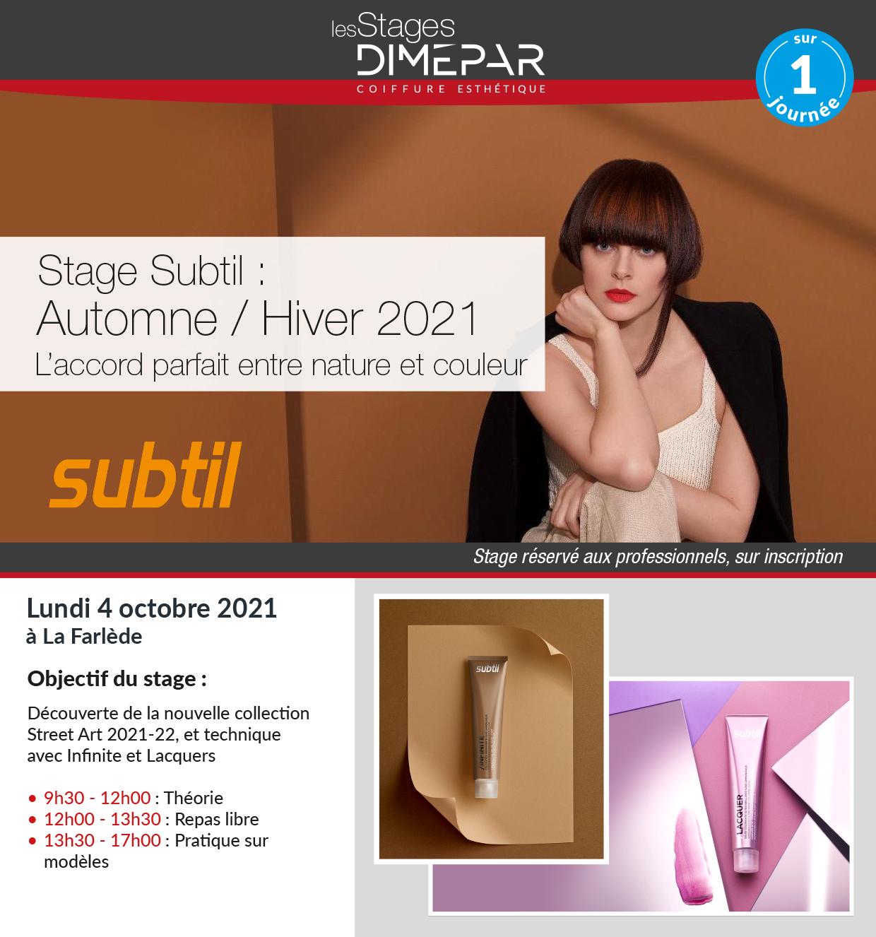 Stage Subtil Automne / Hiver 2021.