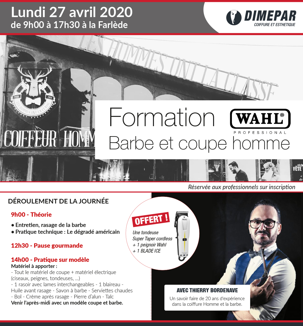 Formation Barbe et Coupe Homme - WAHL PROFESSIONAL