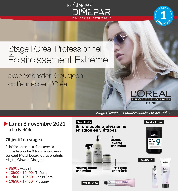 Stage l'Oréal Professionnel : Éclaircissement Extrême