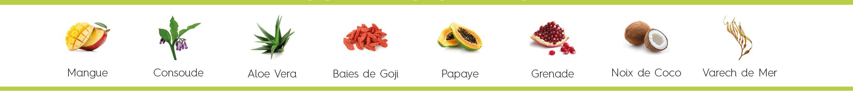 Sans Gluten, Formule Vegan, fabriqués principalement à partir d'ingrédients d'origine naturelle.