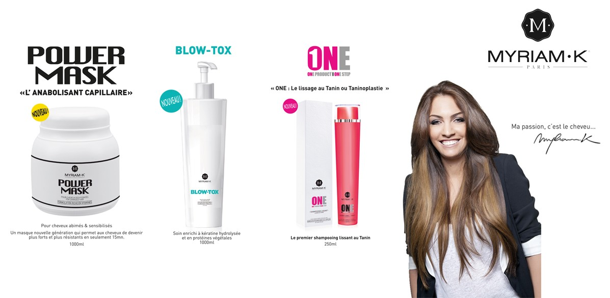 POWER MASK, BLOW TOX, ONE Lissage TANIN : 3 Nouveautés MYRIAM K